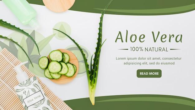 Aloe vera naturale con cetrioli Psd Gratuite