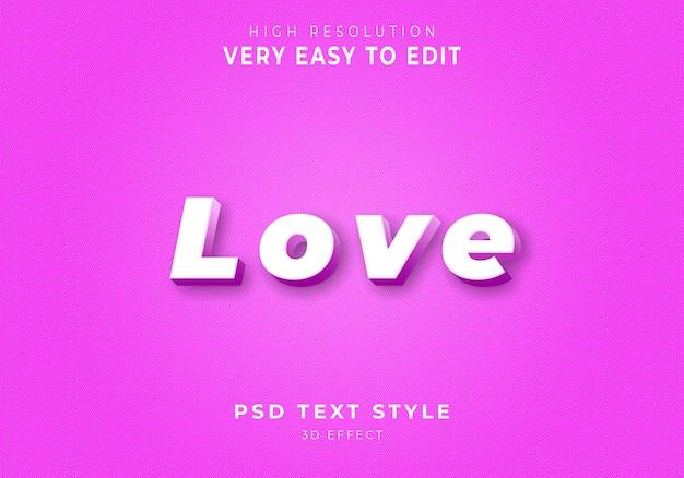 Amazing love 3d-tekststijl Premium Psd