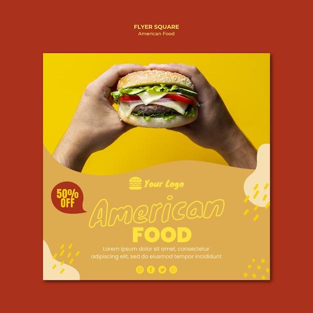 Amerikaans eten flyer Gratis Psd
