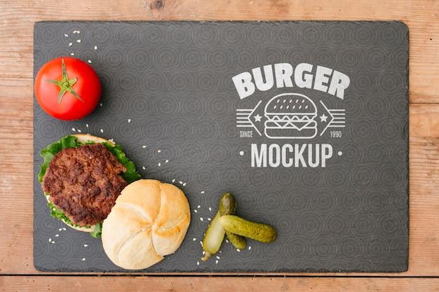 Amerikaans voedselconcept mock-up Gratis Psd