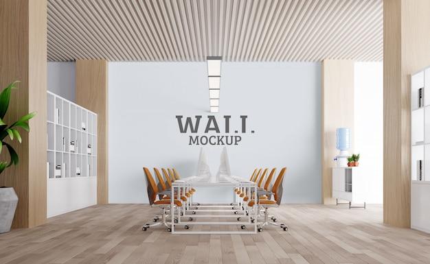 Ampio spazio di lavoro. mockup da parete Psd Premium