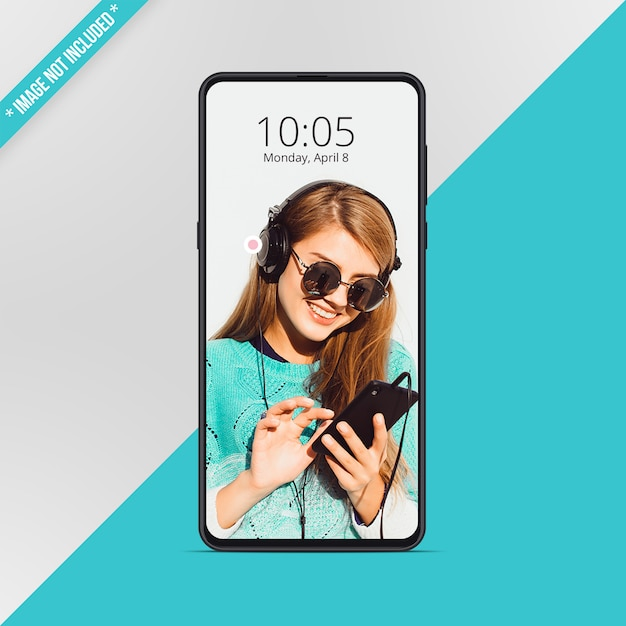 Android smartphone-model Premium Psd