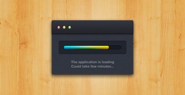 App carico delle applicazioni apple mac caricata carico finestra osx Psd Gratuite