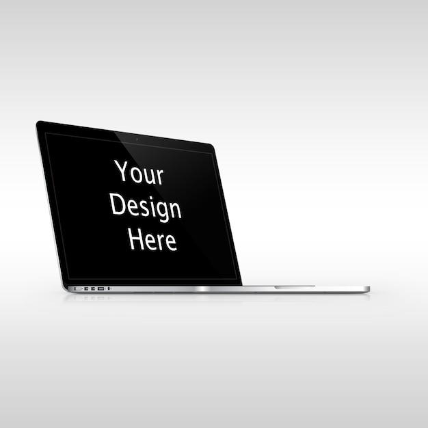 Apple macbook pro vista sinistra mockup Psd Premium