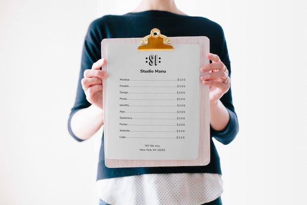 Appunti menu mockup Psd Premium