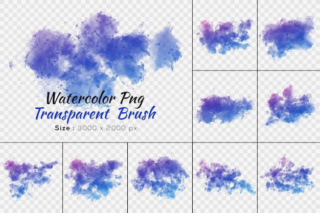 Aquarel transparante borstel collectie Premium Psd