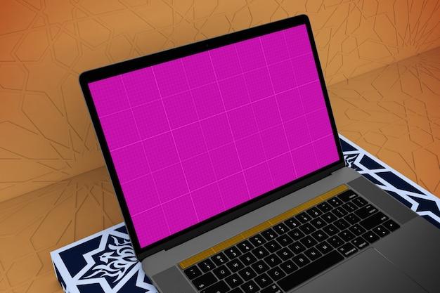 Arabische laptop mockup Premium Psd