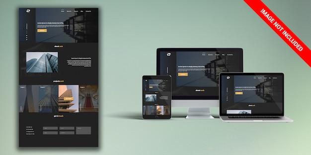 Architectuur websiteontwerp Premium Psd