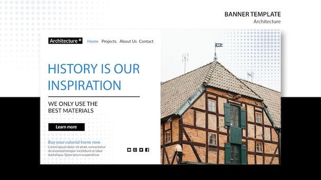 Arhitecture concept sjabloon voor spandoek Gratis Psd