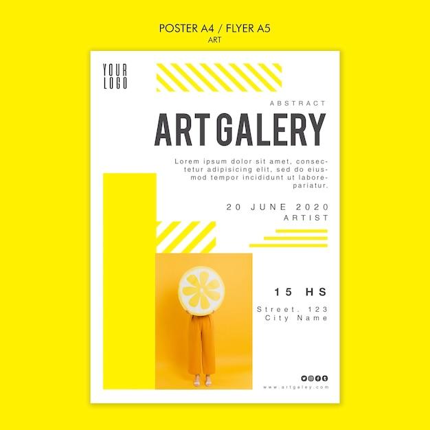 Art concept poster sjabloon Gratis Psd
