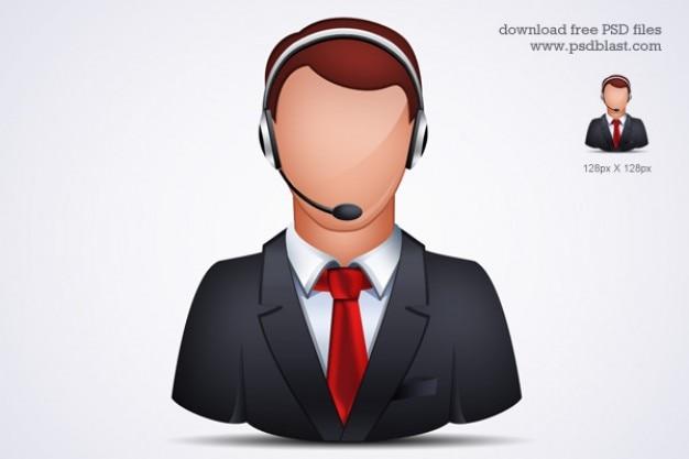 Assistenza clienti on-line icona psd Psd Gratuite