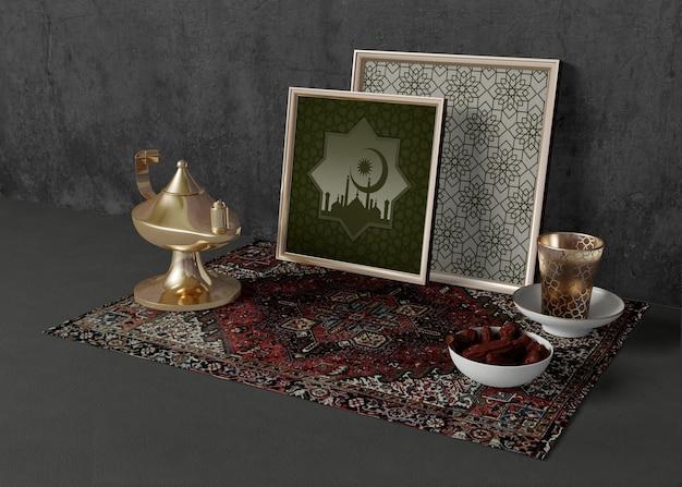 Assortiment van verschillende ramadan elementen Gratis Psd