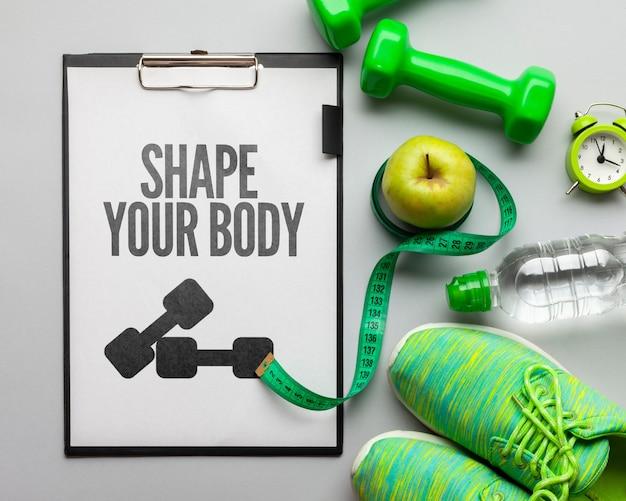 Attrezzature per il fitness e set di idratazione Psd Gratuite