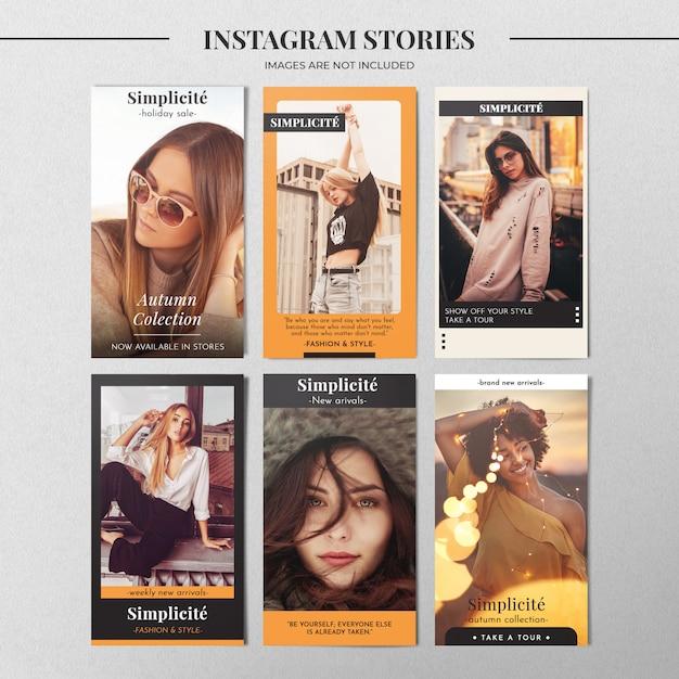 Autumn instagram story template Psd Premium