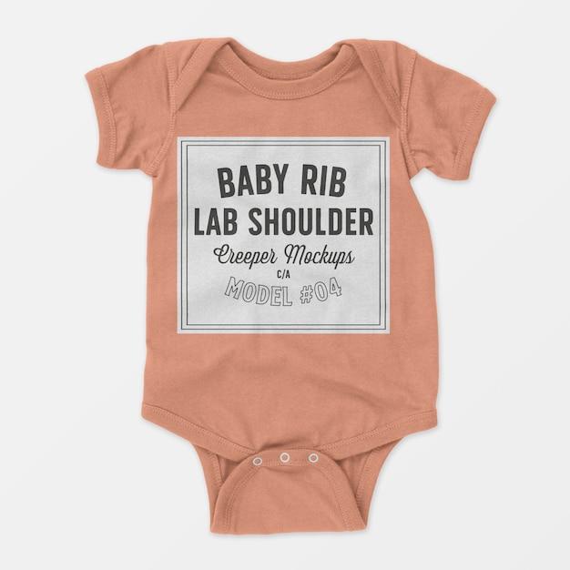 Baby rib lap schouder klimplant mockup 04 Gratis Psd