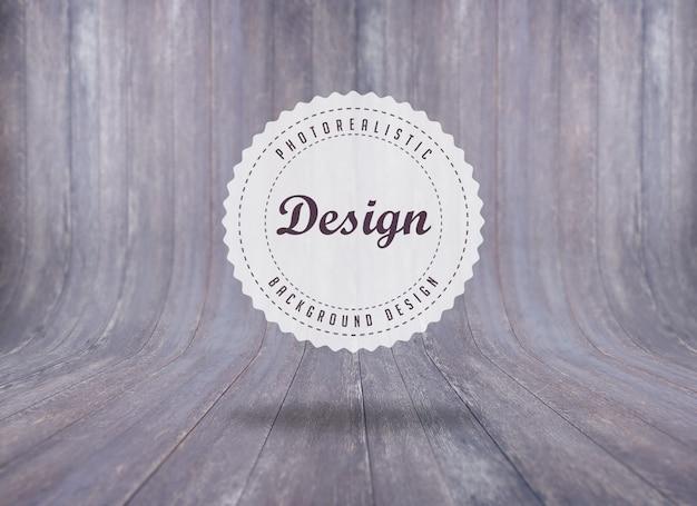 Background design in legno realistico Psd Gratuite