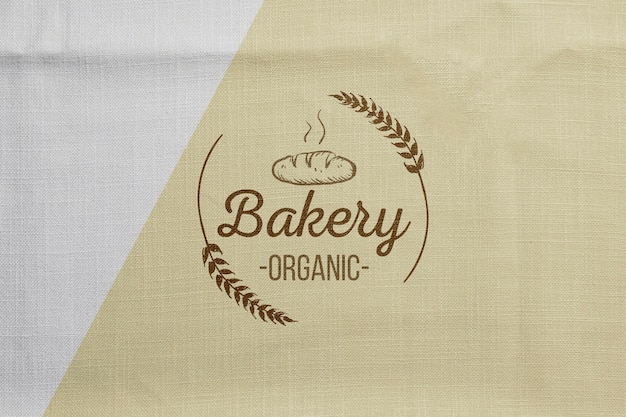Bakkerijproducten concept met mock-up Gratis Psd
