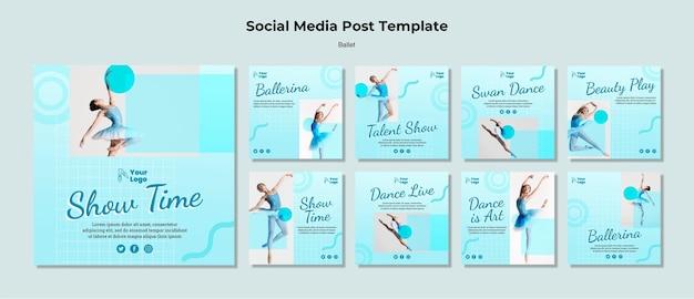 Balletdanseres op sociale media Gratis Psd