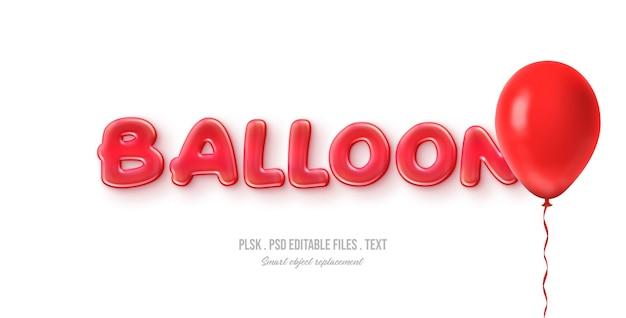 Ballon 3d tekststijl effect Premium Psd