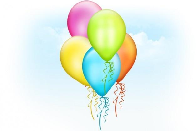 Ballonnen psd template Gratis Psd