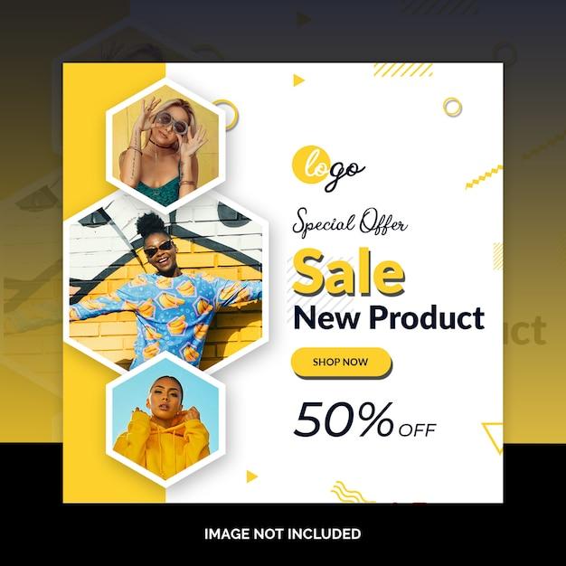 Bandiere di web di media sociali di vendita speciale di fine settimana Psd Premium