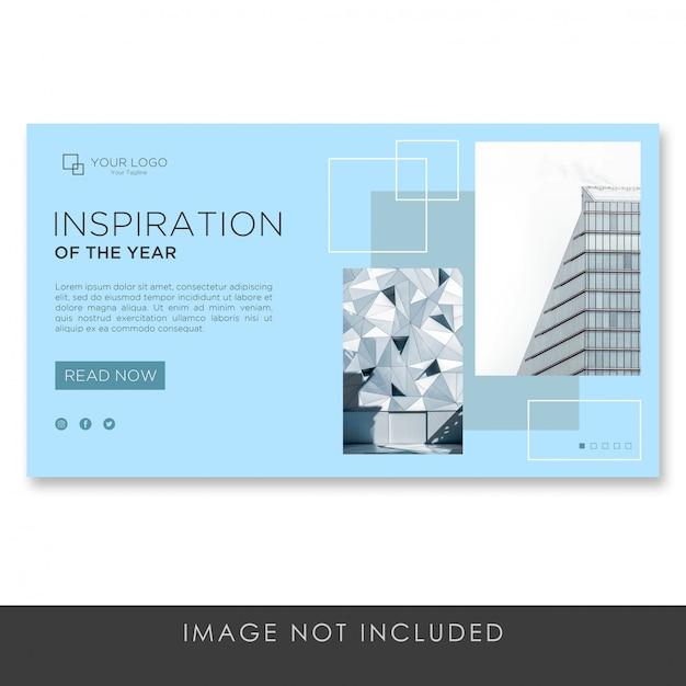 Banner bestemmingspagina architectuur moderne sjabloon bouwen Premium Psd