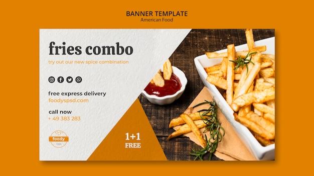 Banner di cibo americano settimana succosa hamburger Psd Gratuite