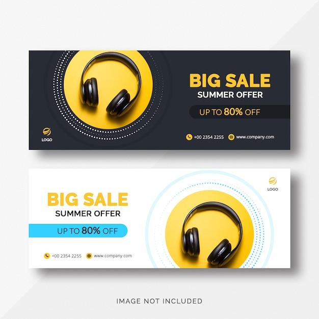 Banner di copertina vendita facebook Psd Premium