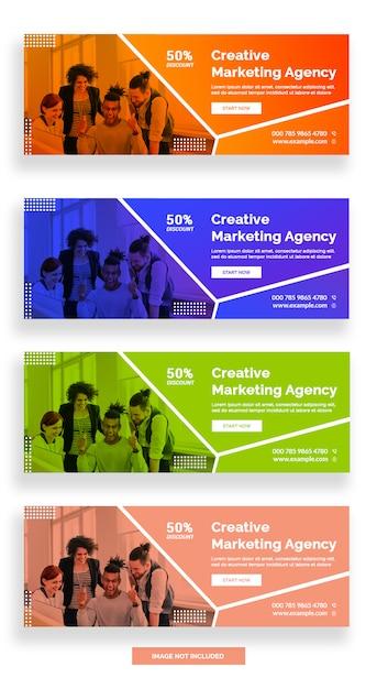 Banner di facebook agenzia di marketing creativo Psd Premium