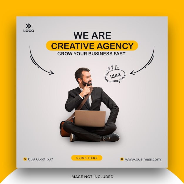 Banner di social media aziendale Psd Premium