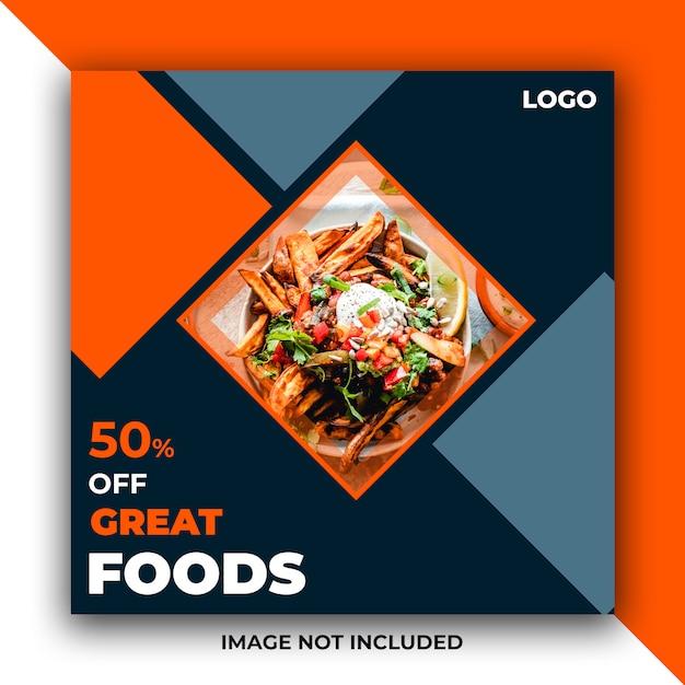 Banner di social media di cibo web post Psd Premium