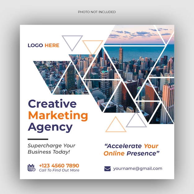 Banner di social media marketing aziendale digitale Psd Premium