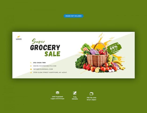 Banner di social media vendita super drogheria Psd Premium