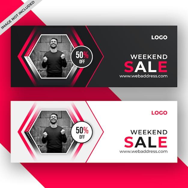 Banner di vendita o modello di copertina di facebook Psd Premium