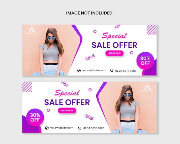 Banner di vendita speciale o modello di copertina di facebook Psd Premium