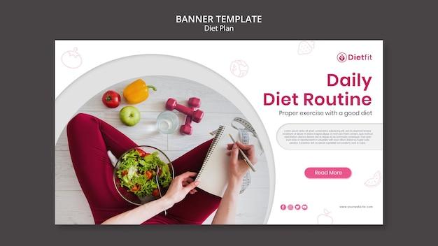 Banner dieetplan sjabloon Gratis Psd