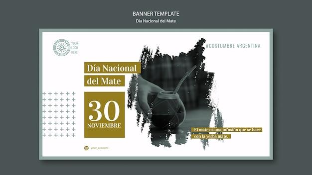 Banner de evento nacional de bebida mate de argentina PSD gratuito