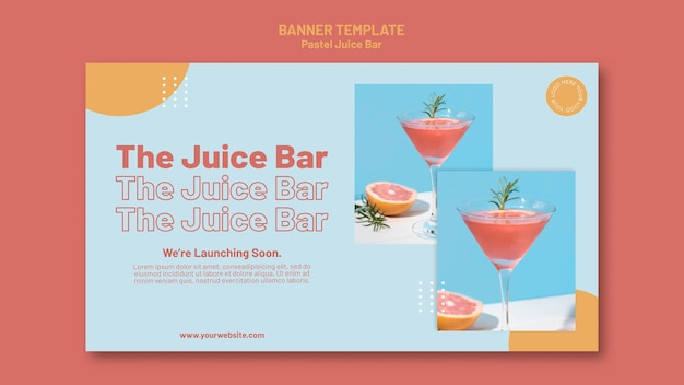 Banner juice bar sjabloon Gratis Psd