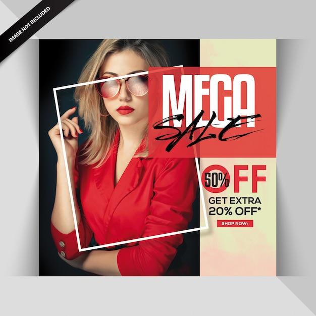 Banner o post vendita esclusiva di moda creativa Psd Premium