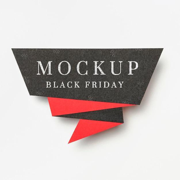 Banner op witte achtergrond zwarte vrijdag verkoop mock-up Gratis Psd