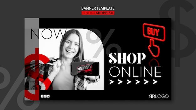 Banner orizzontale online del negozio di moda Psd Gratuite