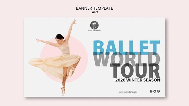 Banner orizzontale per performance di balletto Psd Gratuite