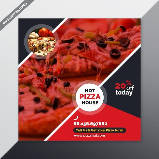 Banner de redes sociales de pizza PSD Premium