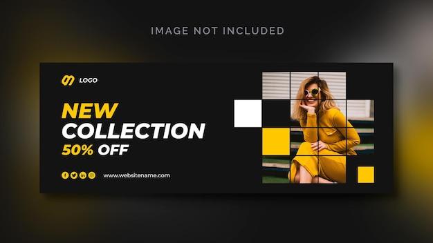 Banner de redes sociales de venta de moda o plantilla de redes sociales PSD gratuito