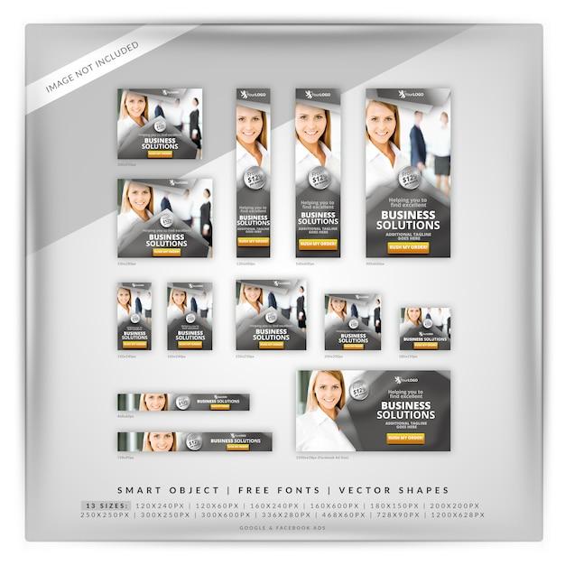 Banner set voor zakelijke marketingcampagne Premium Psd