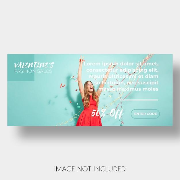 Banner sjabloon verkoop valentijnsdag Gratis Psd