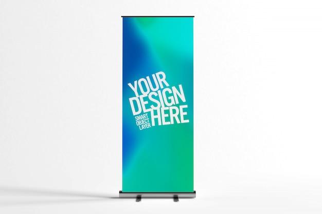 Banner de soporte publicitario simulado PSD Premium