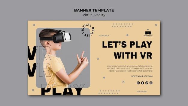 Banner voor virtuele realiteit Gratis Psd