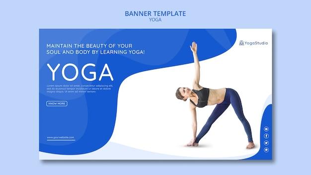 Banner voor yoga fitness Gratis Psd