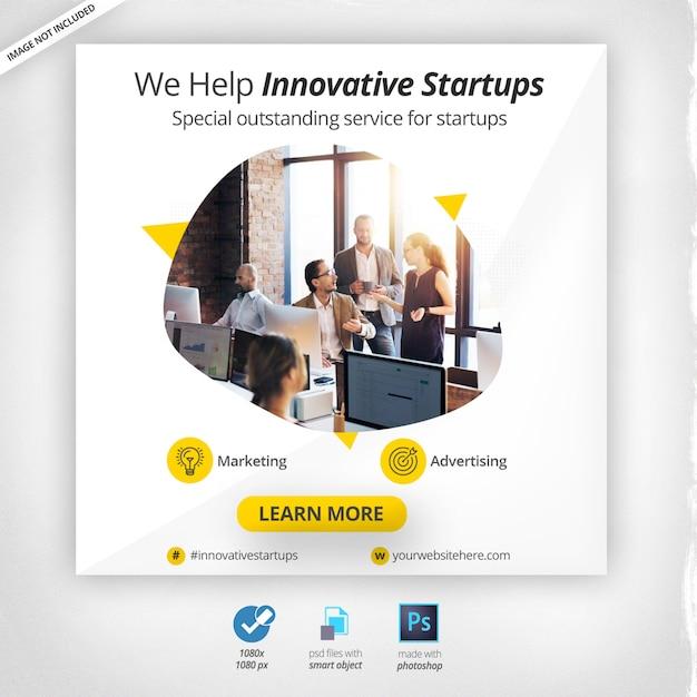 Banner web de marketing empresarial PSD Premium